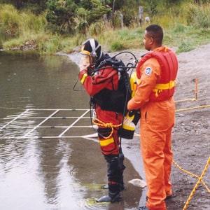 underwater crime scene, Underwater Crime Scene Technician I